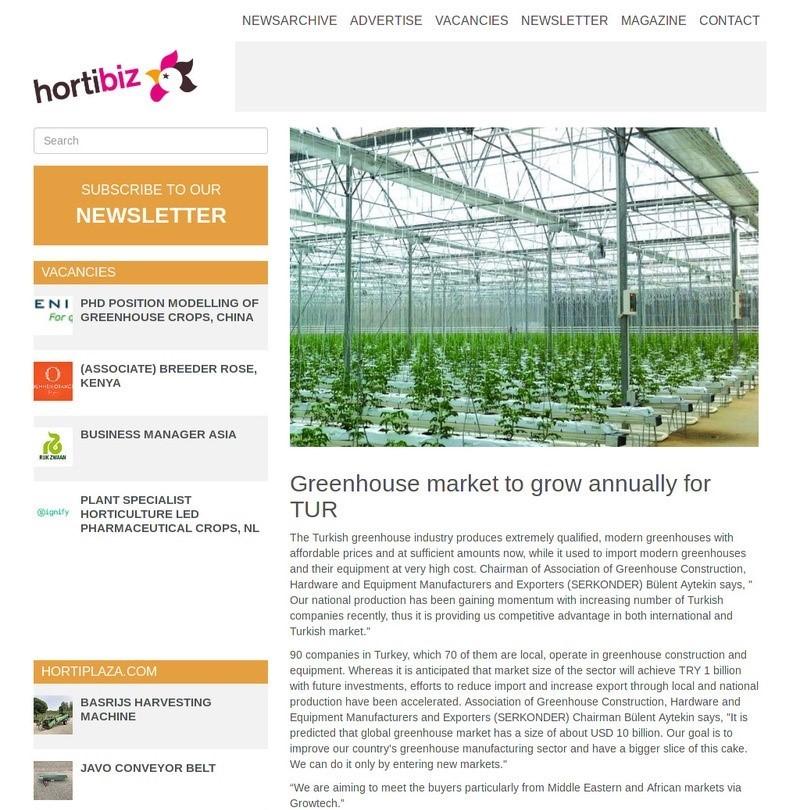 Turkish greenhouse market