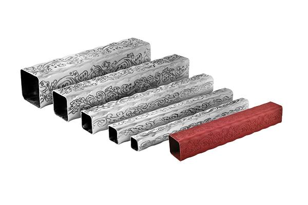 hammered galvanized steel tube